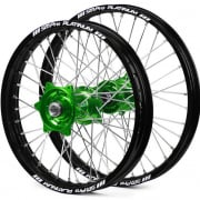 SM Pro Platinum Motocross Wheel Set - Kawasaki Green Black Silver