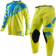 2017 Leatt GPX 4.5 Lite Motocross Kit Combo - Lime Blue