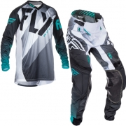 2017 Fly Racing Lite Hydrogen Kit Combo - Black White Teal