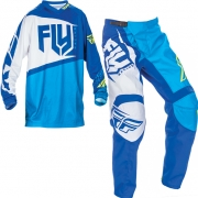 2017 Fly Racing F16 Kit Combo - Blue Hi Viz