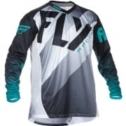 2017 Fly Racing Lite Hydrogen Jersey - Black White Teal