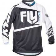 2017 Fly Racing F16 Jersey - Black White