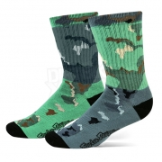 Troy Lee Designs Camo Crew Socks - Green Grey