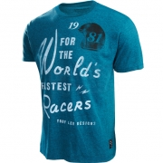 Troy Lee Designs T Shirt Kingpin Black Cyan