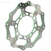 RFX Pro Series Kawasaki Front Wavey Floating Brake Disc - Green