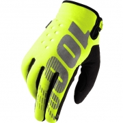 100% Brisker Kids Cold Weather Gloves - Neon Yellow