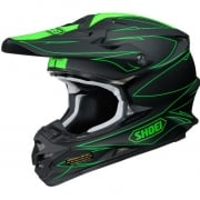 2017 Shoei VFXW Helmet - Hectic Matt Black Green TC4
