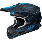 2017 Shoei VFXW Helmet - Hectic Matt Black Blue TC2