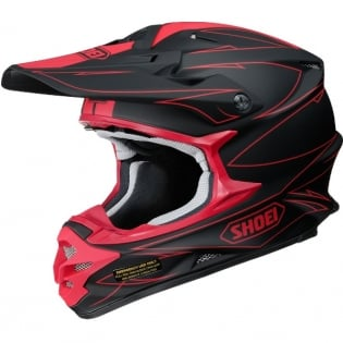 2017 Shoei VFXW Helmet - Hectic Matt Black Red TC1