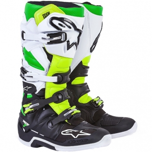 Alpinestars Tech 7 Boots - Ltd Vegas Black White Green Flo Yellow