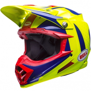 Bell Moto 9 Carbon Flex Helmet - Vice Blue Yellow