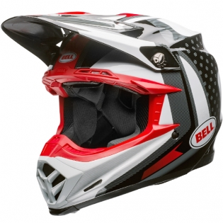 Bell Moto 9 Carbon Flex Helmet - Vice Black White