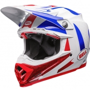Bell Moto 9 Carbon Flex Helmet - Vice Blue Red