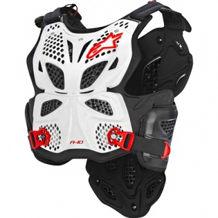 Alpinestars A10 Chest Protector - White Black Red