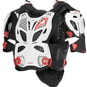 Alpinestars A10 Full Chest Protector - White Black Red