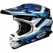 2017 Shoei VFXW Helmet - Capacitor Blue White TC2