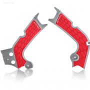 Acerbis Honda X-Grip Frame Guards CRF - Silver Red