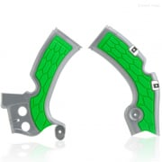 Acerbis Kawasaki X-Grip Frame Guards - Silver Green