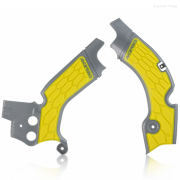 Acerbis Suzuki X-Grip Frame Guards - Grey Yellow