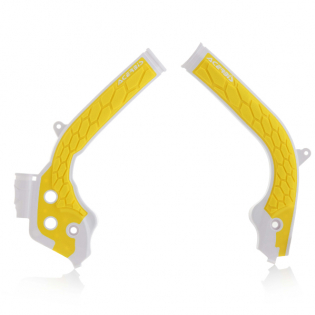 Acerbis Husqvarna X-Grip Frame Guards - White Yellow