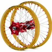 SM Pro Platinum Motocross Wheel Set - Honda Red Gold Red