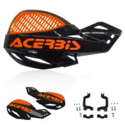 Acerbis MX Uniko Vented Handguards - Black Orange