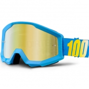 100% Strata Kids Goggles - Blue Gold Mirror Lens