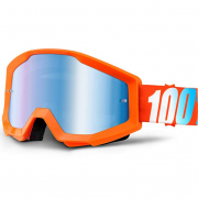 100% Strata Kids Goggles - Orange Blue Mirror Lens