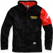 100% Geico Honda Flux Hooded Jacket - Black