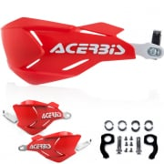 Acerbis X-Factory Handguards - Red White