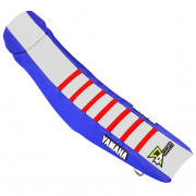 D Cor Yamaha Gripper Factory Rib Seat Cover - Blue White Red