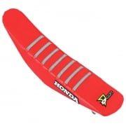 D Cor Honda Gripper Factory Rib Seat Cover - Red Red Grey