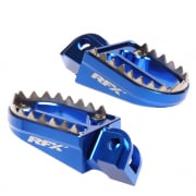 RFX Pro Series Shark Teeth Wide Foot Pegs - Yamaha Blue