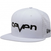 Seven Brand Punched New Era Snapback Cap - White Black