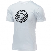 Seven Dot T Shirt - White Checkmate