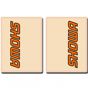 FLU Designs Upper Fork Decals Showa - Flo Orange Black