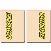 FLU Designs Upper Fork Decals Showa - Yellow Black