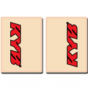 FLU Designs Upper Fork Decals Kayaba - Red Black