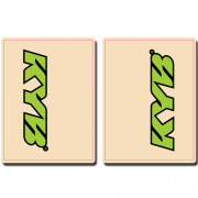 FLU Designs Upper Fork Decals Kayaba - Green Black