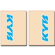 FLU Designs Upper Fork Decals Kayaba - Cyan Blue White