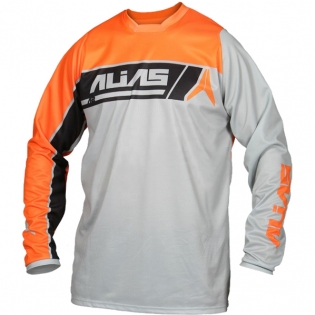2017 Alias A2 Jersey - Sidestacked Grey Neon Orange