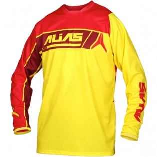 2017 Alias A2 Jersey - Sidestacked Yellow Red
