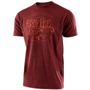 Troy Lee Designs T Shirt Heritage Brick Heather