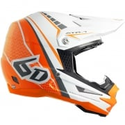 6D ATR-1 Helmet - Edge Neon Orange White