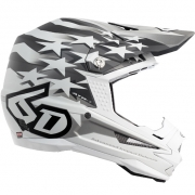 6D ATR-1 Helmet - Patriot Matte White