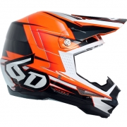 6D ATR-1 Helmet - Sonic Orange Charcoal