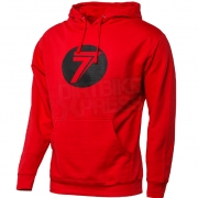 Seven Dot Pullover Hoodie - Red