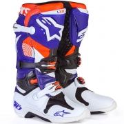 Alpinestars Tech 10 Boots - Ltd Indianapolis White Blue Orange