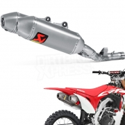 Akrapovic Titanium Slip On Silencers - Honda CRF 450 2017-Current