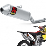 Akrapovic Titanium Slip On Silencer - Suzuki RMZ 250 2010-Current